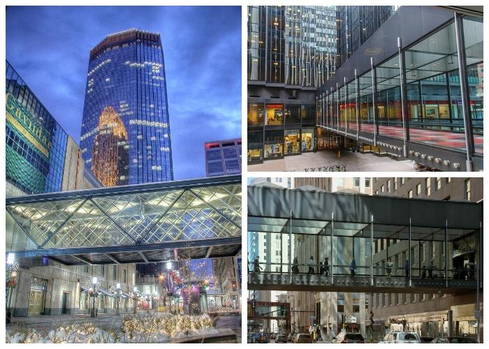 Пешеходные переходы созданы на уроне 2-3 этажа (Minneapolis Skyway System). | Фото: picdeer.com.