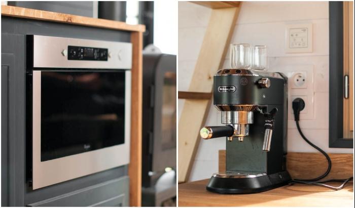 На кухне имеется все необходимое оборудование и бытовая техника для приготовления домашней еды. | Фото: themicrolife.co.uk/© Vincent Bouhours.