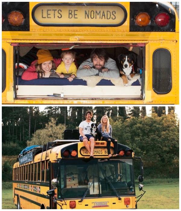 Семейная пара создала самый необычный хостел для путешествий The Nomads Bus.