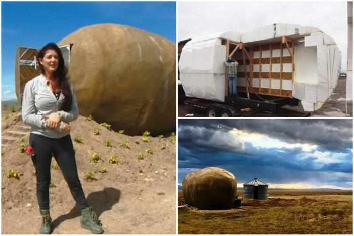 Kristie Wolfe превратила рекламный реквизит в оригинальный отель («Big Idaho Potato Hotel», Айдахо). | Фото: youtube.com.