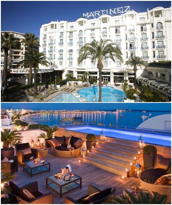В самом дорогом номере самого фешенебельного отеля Канн отдыхают лишь богатые и знаменитые (Grand Hyatt Cannes Hotel Martinez).