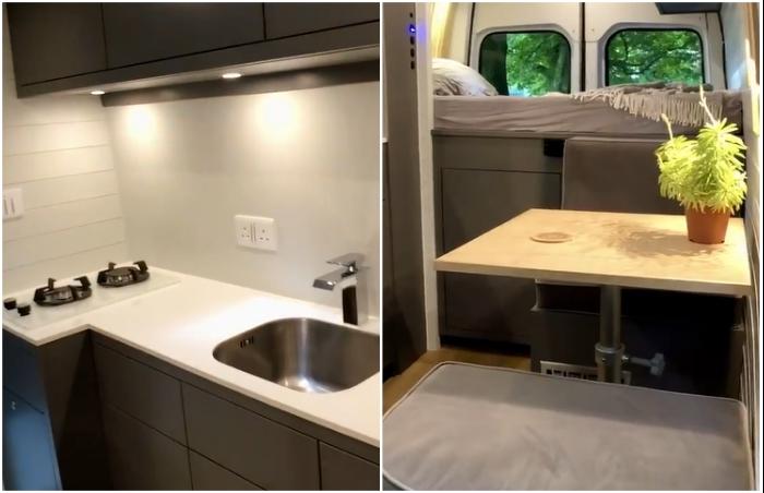 Кухня-столовая получилась вполне комфортная, в ней есть все необходимое для приготовления и принятия пищи. | Фото: bestlifestylebuzz.com.