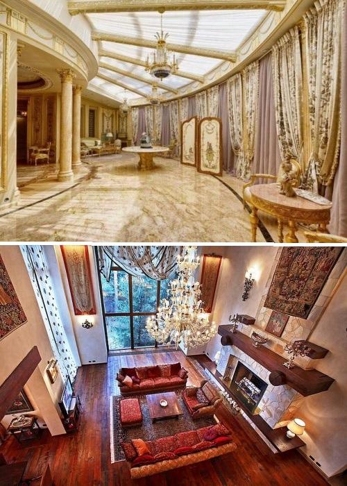 Особую роскошб интерьеру придают мраморные полы, хрустальные люстры, мебель из лучших пород древесины и антиквариат. | Фото: lemurov.net.