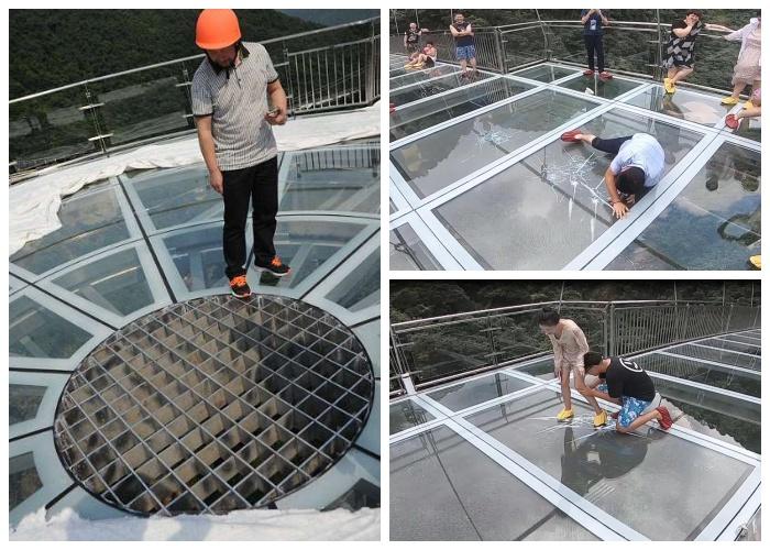 Для усиления остроты ощущений посреди площадки организовали поток ветра и внедрили жуткие спецэффекты (Gulongxia, Китай). | Фото: 34travel.me.