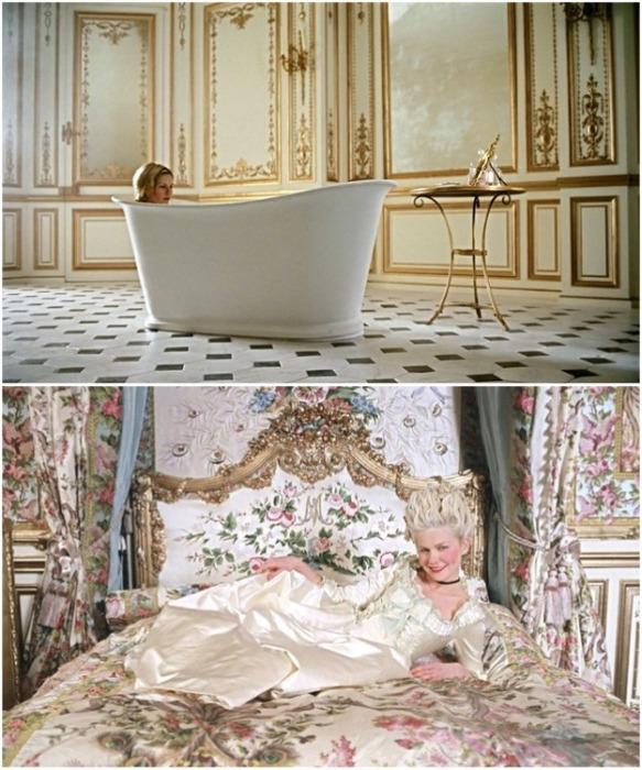 О такой ванной и спальне мечтает большая часть женщин (фрагменты из к/ф «Мария-Антуанетта»). | Фото: wday.ru.
