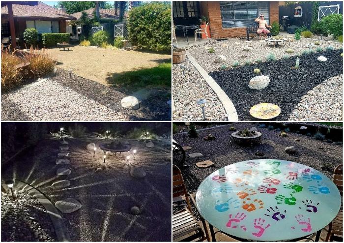 Креативной семье понадобилось минимум средств и времени, чтобы превратить скучный двор в прекрасную зону отдыха (So Cal, Калифорния).| Фото: hometalk.com/ pinterest.at, © Tiffany.