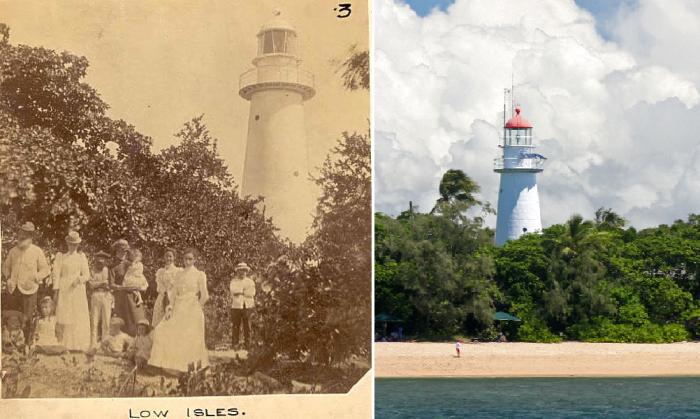 Маяк на острове уже стал его исторической достопримечательностью (Low Isles, Австралия). | Фото: douglashistory.org.au/ queenslandplaces.com.au.