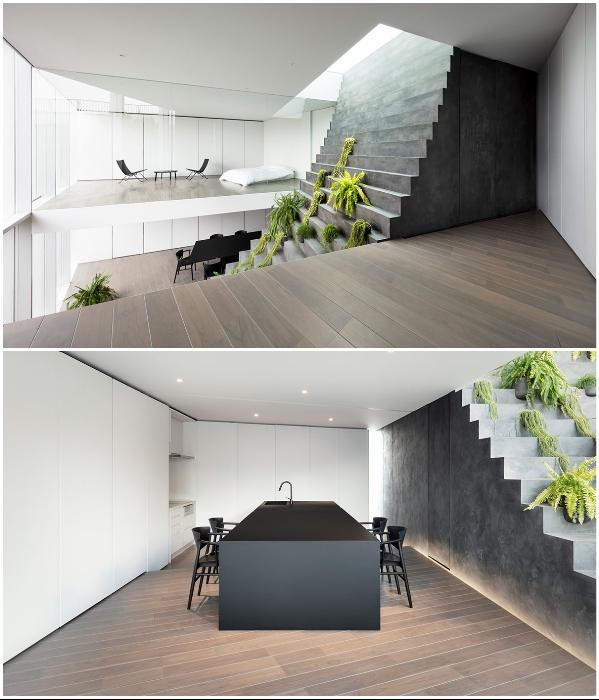 На каждом этаже есть общие и приватные зоны для каждой супружеской пары и детей («Stairway House», Токио). | Фото: mymodernmet.com.