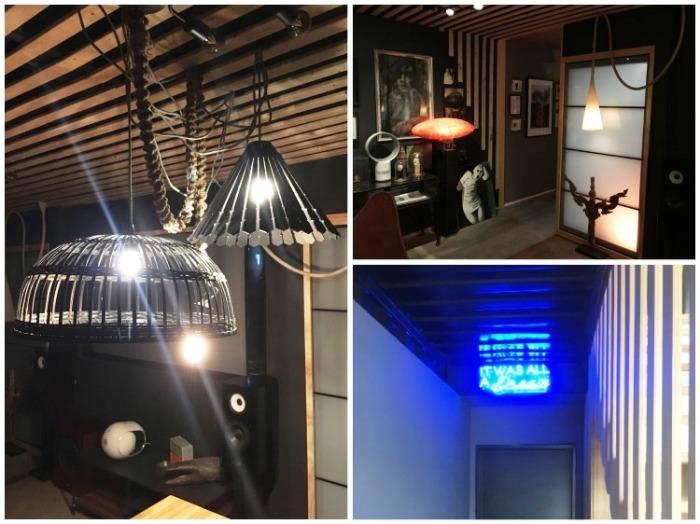 Необычные картины, светильники и даже неоновые надписи украшают интерьер McGowen Container House. bionicweapon.wordpress.com.
