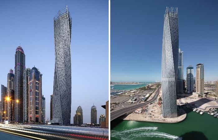 Многофукциональный жилой комплекс Infinity Tower является самым высоким «скрученным» зданием в мире (Дубай, ОАЭ). | Фото: plataformaarquitectura.cl.