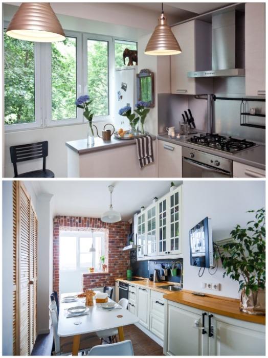 Если есть возможность, кухню целесообразней объединять с лоджией или балконом. | Фото: sanyo-electric.ru.