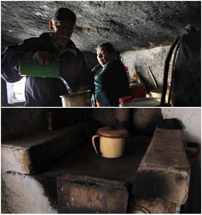 Кухня в пещерном доме (штат Коауил, Мексика). © VANGUARDIA MX.
