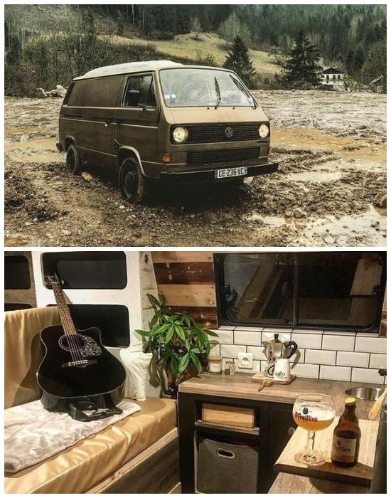 Даже маленький автофургон можно превратить в стильное жилье. | Фото: twitter.com/vanclans.