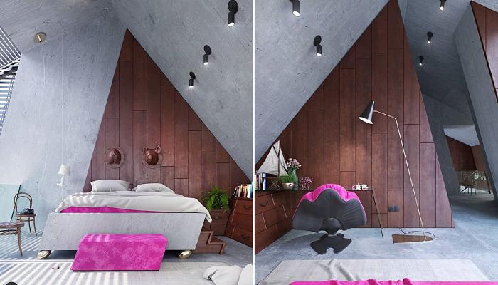 Дизайнерский проект интерьера и мебели, созданные Кариной Вичяк (Greenhouse).   Фото: instagram.com/ wamhouse.