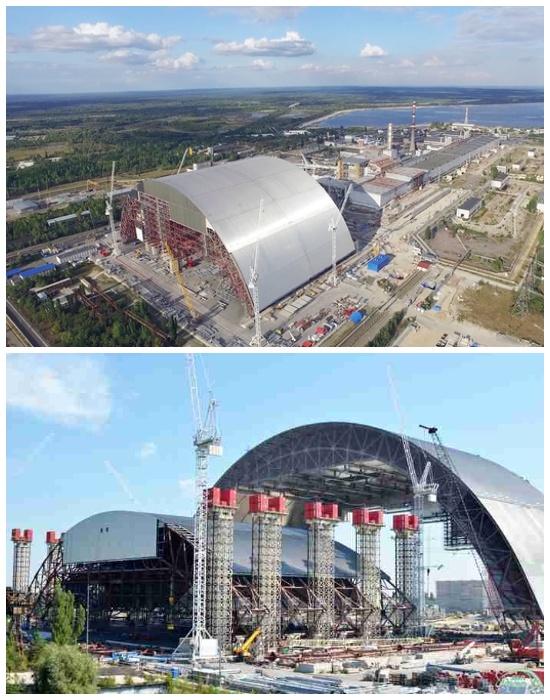 В скором времени должны завершить строительство нового защитного укрытия «Саркофаг 2» (Чернобыль, Украина). | Фото: atomic-energy.ru.