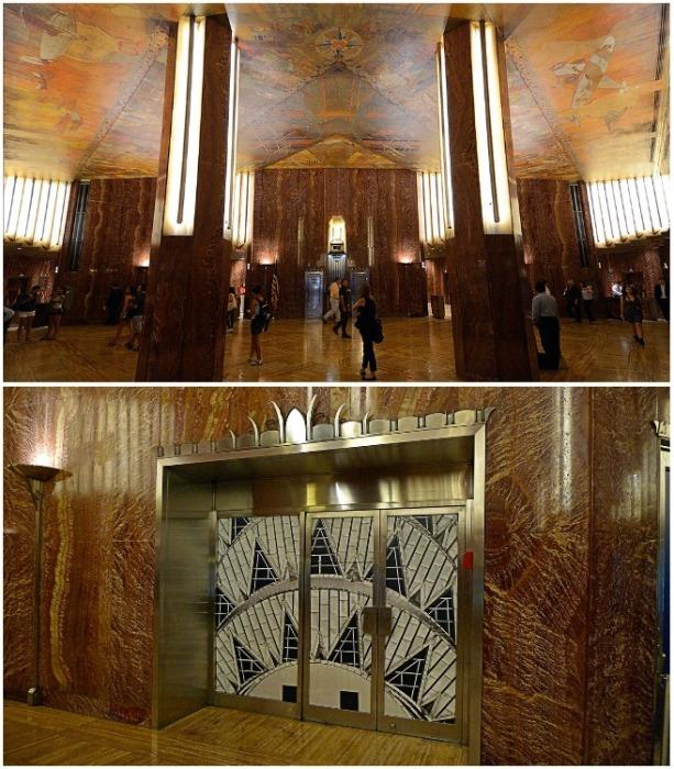 Помпезный интерьер  Chrysler Building в Нью-Йорке. | Фото: quentinthomasassociates.com.
