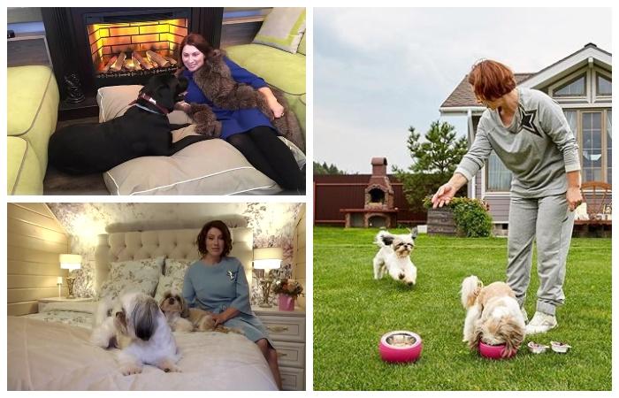 Роза Сябитова переехала в свой загородный особняк вместе с детьми и всеми домашними питомцами.