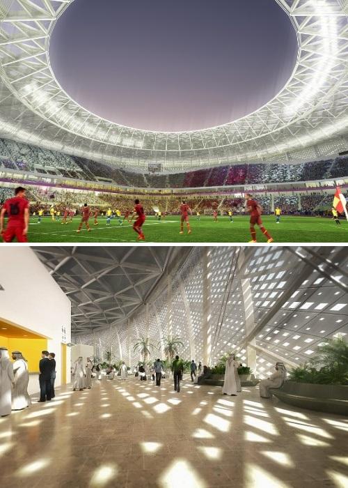 Стадион будет вмещать 40 тыс. человек и до него можно будет дойти с аэропорта пешком (Al Thumama Stadium, Катар-2022). | Фото: stadiums.at.ua.
