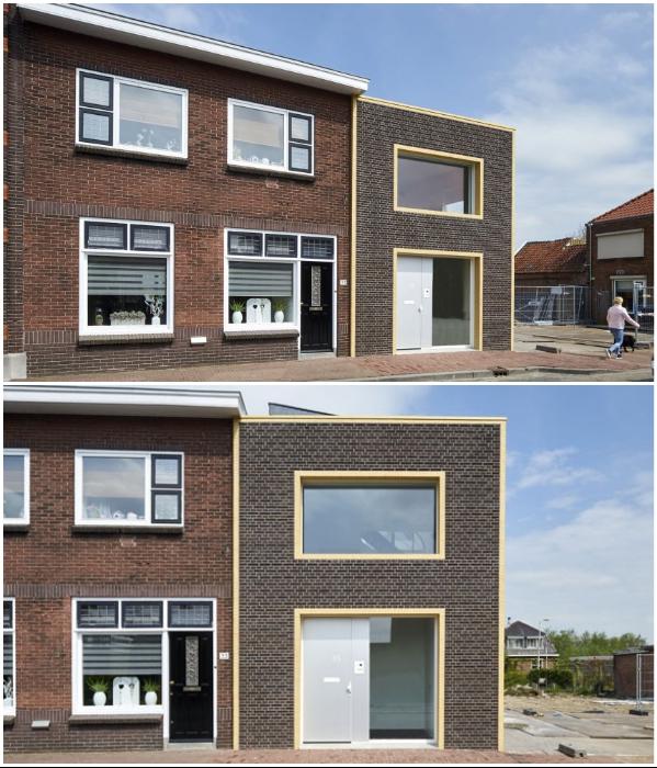 На исторической улице в деревне Мееркерк появился крошечный дом, который практически не выделяется среди остальных зданий (Голландия). | Фото: rvarchitectuur.nl.