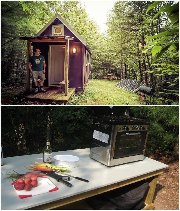 Laura LaVoie вместе со своим супругом построили крошеный домик площадью 11,1 кв.м. и прожили в нем 4 года (Северная Каролина, США). | Фото: 120squarefeet.com.