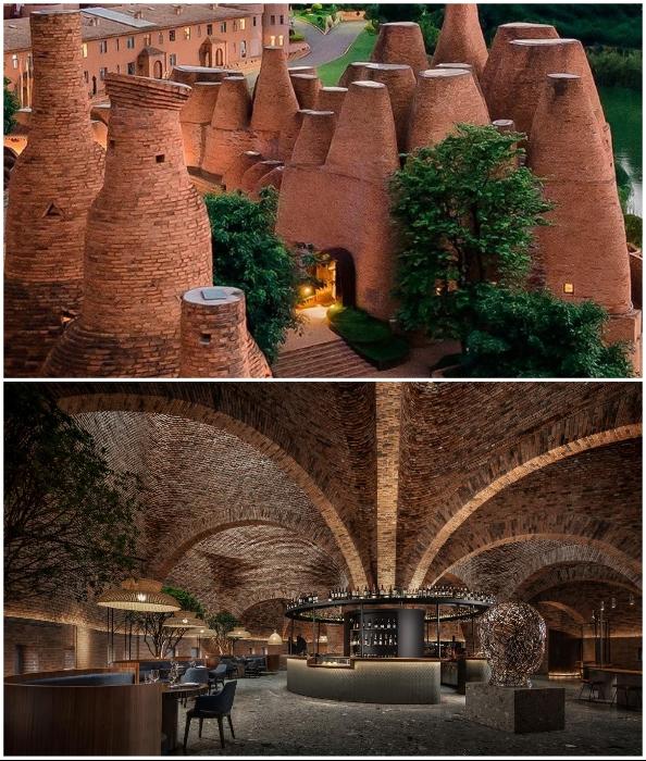 В Китае открыли ресторан-инсталляцию похожую на огромный кирпичный термитник (50% Cloud, Китай).