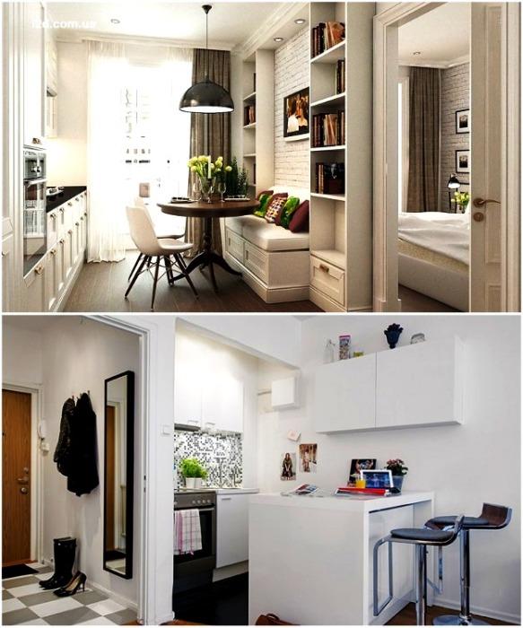 Светлые стены позволяют менять стиль интерьера без особого труда. | Фото: interiorsroom.ru.