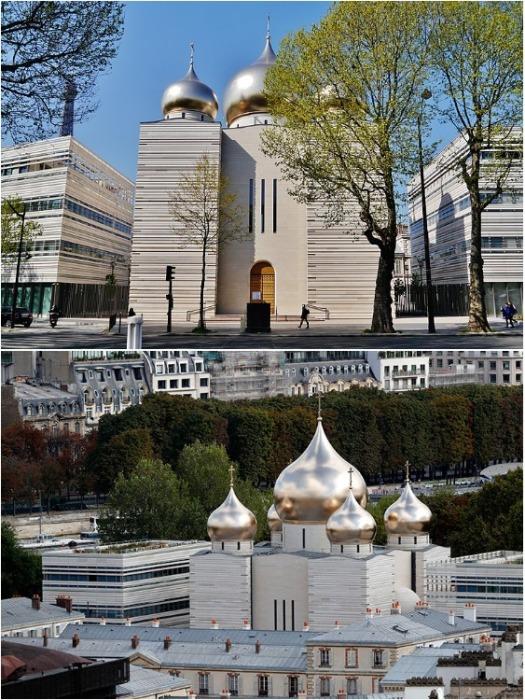 В таком виде увидел мир Русский духовно-культурный центр в Париже (Франция). | Фото: egliserusse.eu.