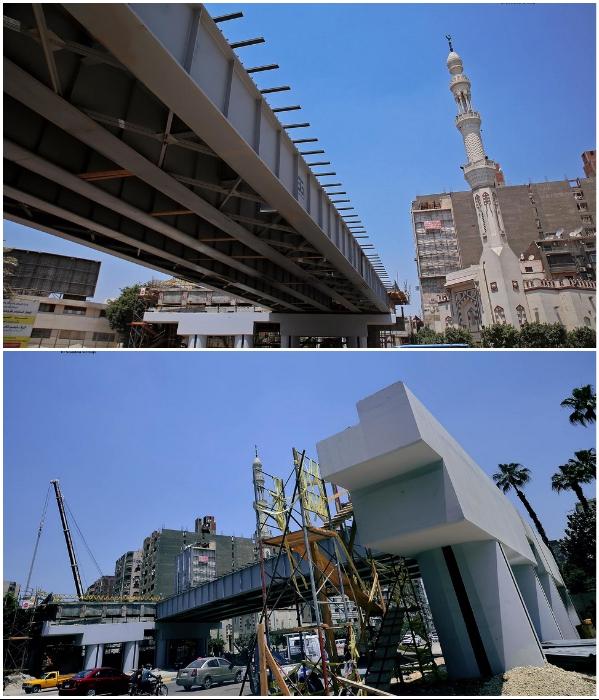 Строительство «Teraet Al-Zomor Bridge» призвано разгрузить оживленный городской трафик (Гиза, Египет). | Фото: dymontiger.livejournal.com.