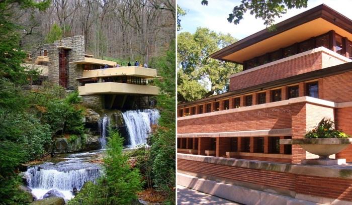 Список из выбранных для номинации работ назван «Архитектура 20-го века Фрэнка Ллойда Райта». | Фото: artishock.org.