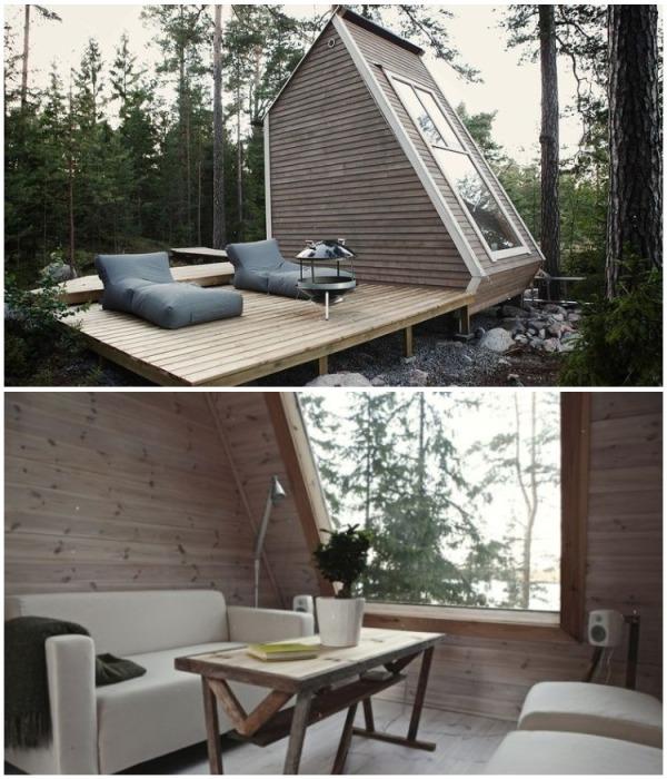 Сказочный дом среди леса площадью всего 29 кв.м. станет идеальным местом отдыха для любителей истинной природы (Финляндия). | Фото: archidea.com.ua.