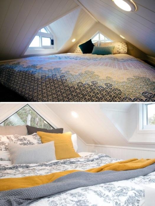 В крошечном эко-доме Lifestyle можно обустроить две полноценных спальни. | Фото: designerecotinyhomes.com.au.