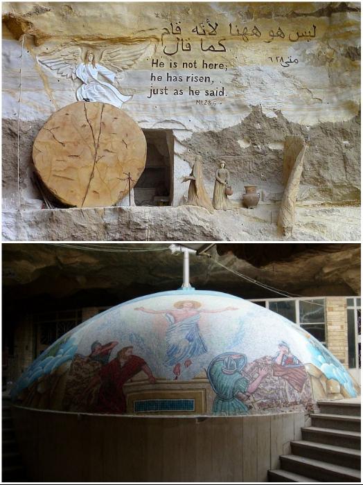 Не только копты устремляются в монастырь и церкви комплекса Мукаттама (храм Св. Симеона, Каир). | Фото: omyworld.ru/ banar.uol.ua.