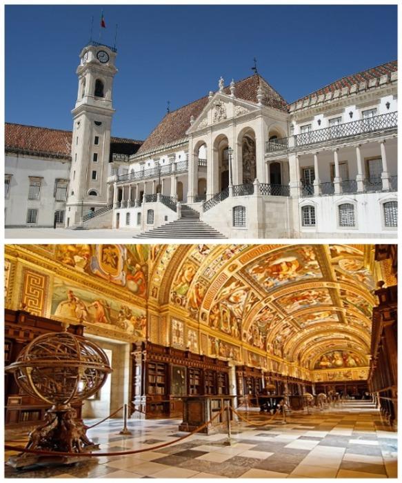Коимбрский университет считается одним из старейших и красивейших учебных заведений Европы (Universidade de Coimbra, Португалия). | Фото: news.euro-coins.info.