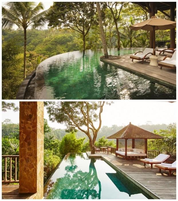 Для каждой виллы или резиденции оформлен собственный бассейн (COMO Sambala Estate, Бали). | Фото: agoda.com/ luxurytravelmag.com.au.