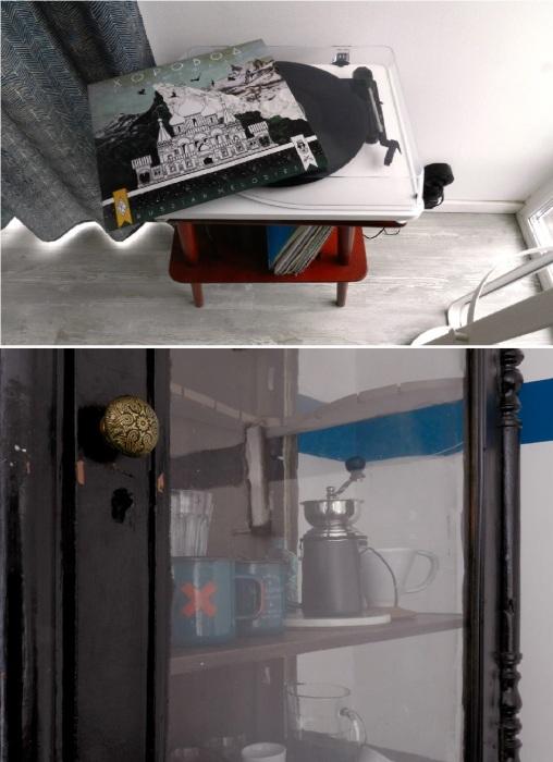 Винтажные вещи и раритетная мебель помогли создать ощущение единства дизайна во всем доме («Небанальный дачный домик», Истра). © Xenia Naletova.