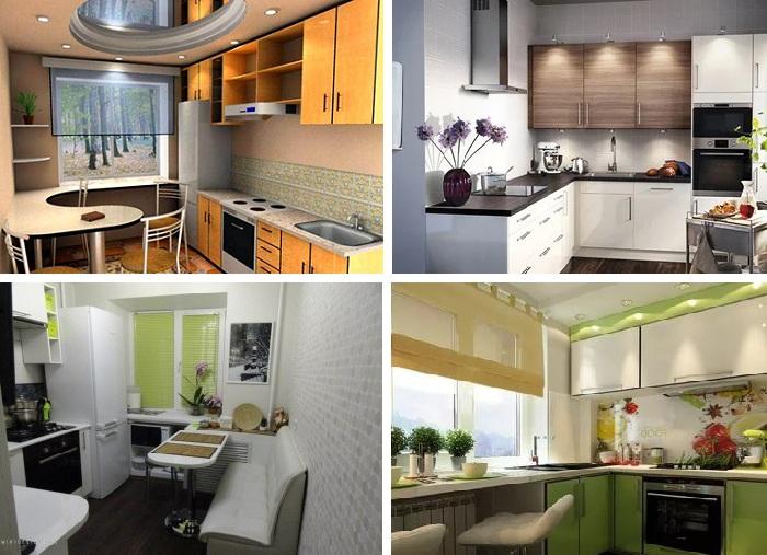 Интересные дизайн-проекты маленькой кухни.