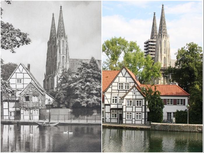 Готический собор, построенный в Средние века (1924 и 2020 гг., Германия). © Kurt Hielscher / © Casper Molenaar.