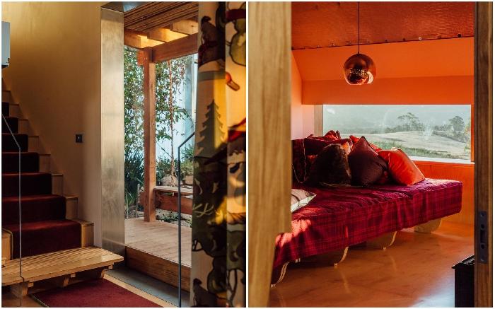 Насыщенные теплые тона отличают интерьер резиденции другого партнера («Longhouse», Daylesford). | Фото: worldarchitecture.org.
