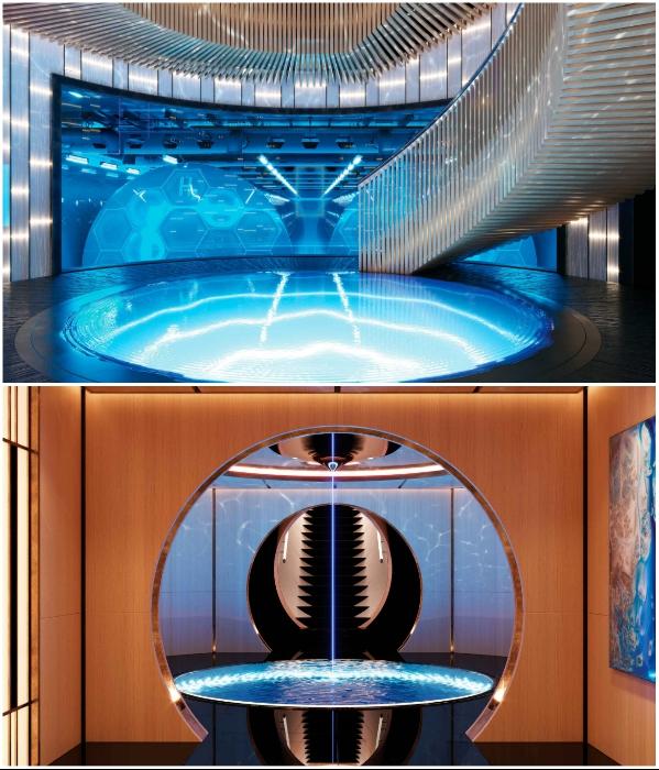 Единственным продуктом переработки водородного двигателя является вода (концепт «AQUA»). | Фото: breakingnews.ws, © Sinot Yacht.
