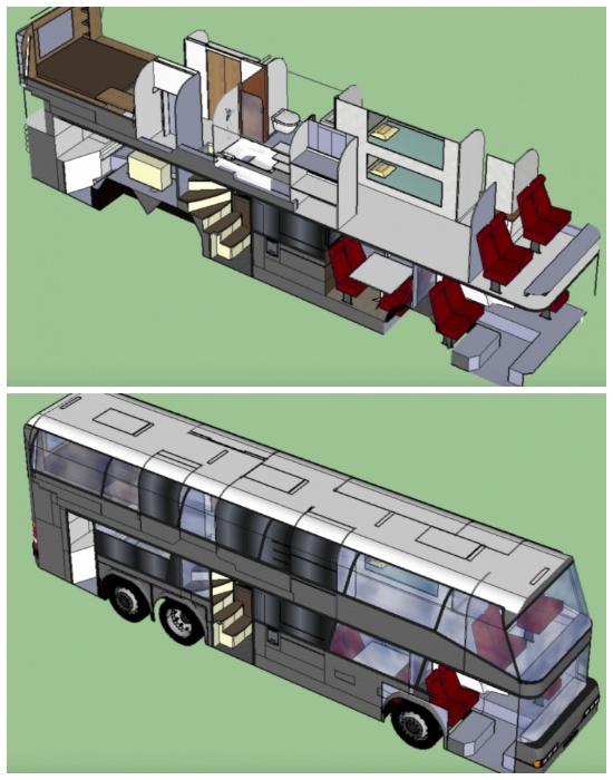 Проект превращения автобуса в настоящий дом на колесах. | Фото: tips-and-tricks.co.