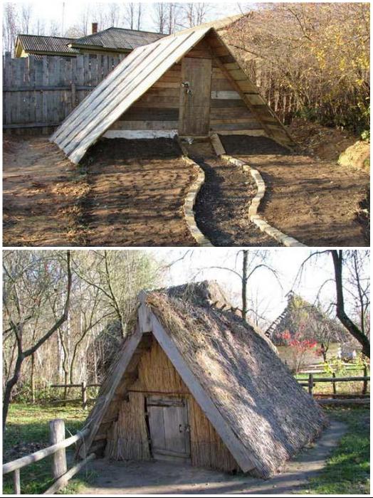 Вот такие домики без стен можно увидеть в некоторых российских деревнях в глубинке. | Фото: chastnyi-dom.com/ arka-green.ru.