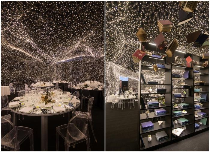 В Мехико открылся ресторан, украшенный 250 тыс. светодиодных светильников («Interstellar»). | Фото: super1.telegram.hr/ ©Jaime Navarro.