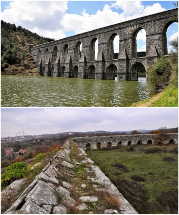 По таким акведукам вода доставлялась в Константинополь (Акведук Гюзелдже Кемери и Эгри). | Фото: moystambul.ru.