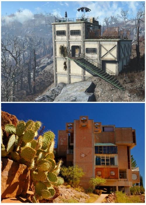 Странные архитектурные формы получили название «аркология» (Arcosanti, США). | Фото: pikabu.ru.