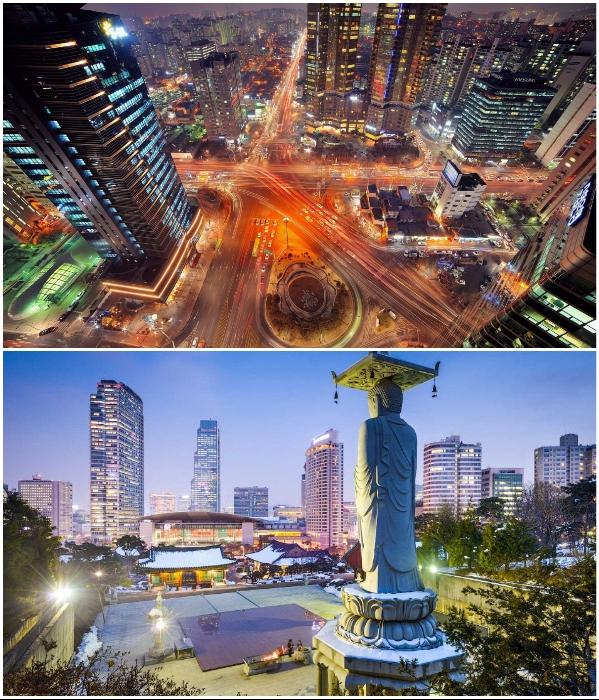 Сеул – город, который способен удивить. | Фото: pinterest.co.uk/ ru.fanpop.com.