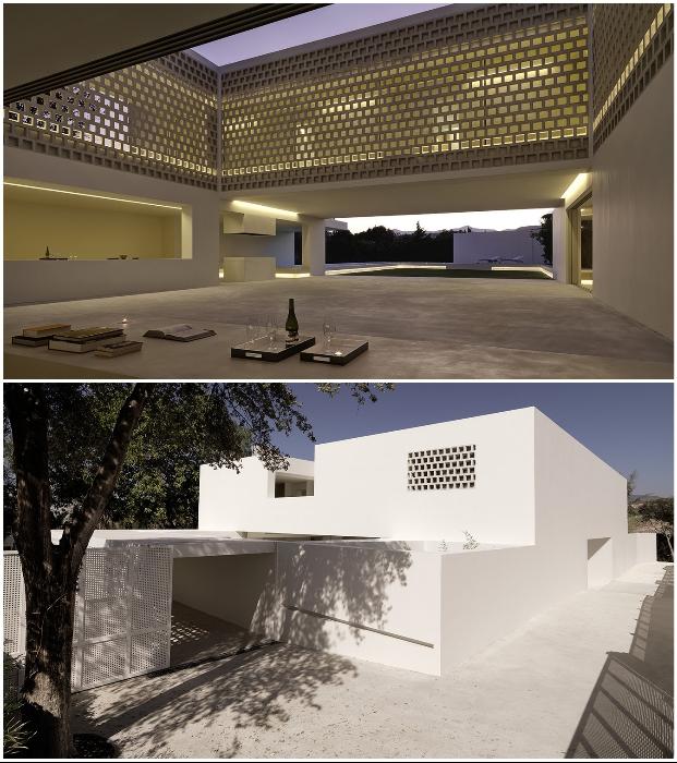 Перфорированные стены особняка Los Limoneros позволяют оградить участок и от солнечных лучей, от любопытных глаз соседей (Марбельи, Испания).