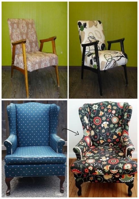 Старому креслу тоже можно дать новую жизнь. | Фото: livemaster.ru.