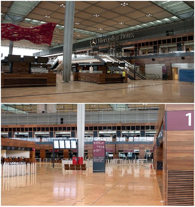 Открывшийся терминал международного аэропорта Берлин-Бранденбург призван разгрузить аэровокзал Берлин-Тегель.
