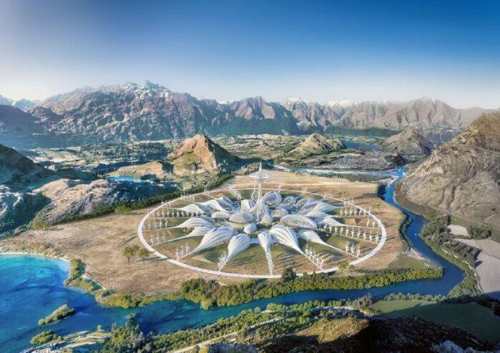 «Парк опылителей» напоминает форму цветка (концепт Vincent Callebaut Architectures). | Фото: designboom.com.