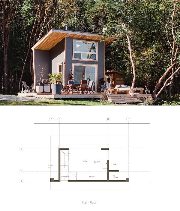 Проект крошечного дома площадью 9,3 кв. м. разработала дизайнерская компания Trim Studio (Ванкувер, Канада). | Фото: player.hu.